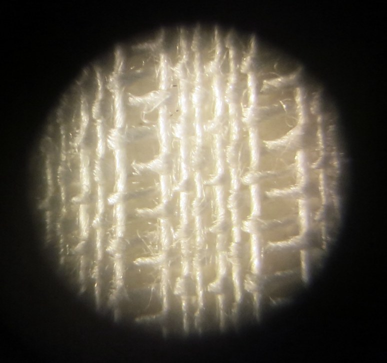 Microscopic view of the fabric