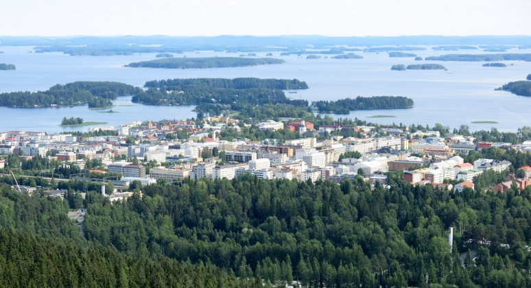 Kuopio from the tower