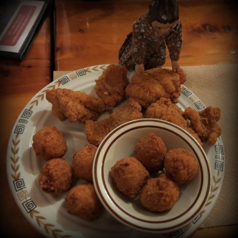 Catfish and Hushpuppies