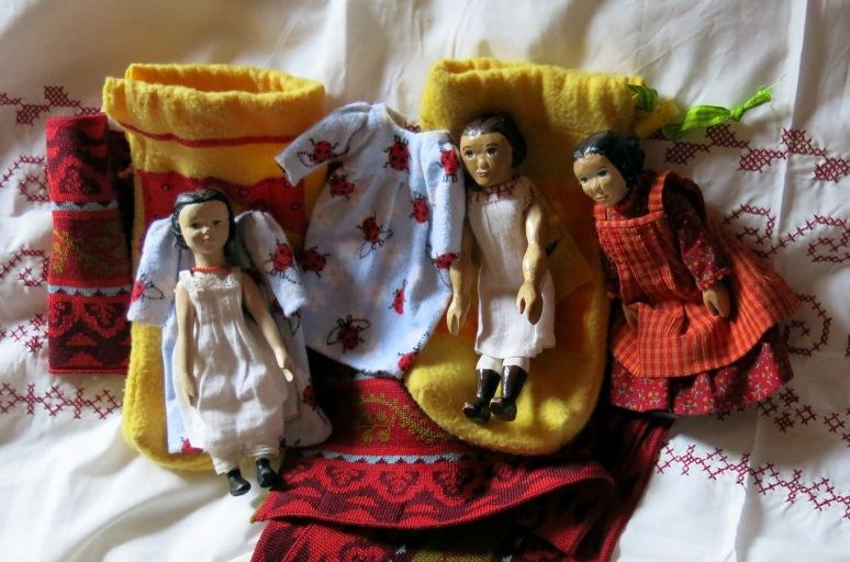 Three girls, two sleep sacks