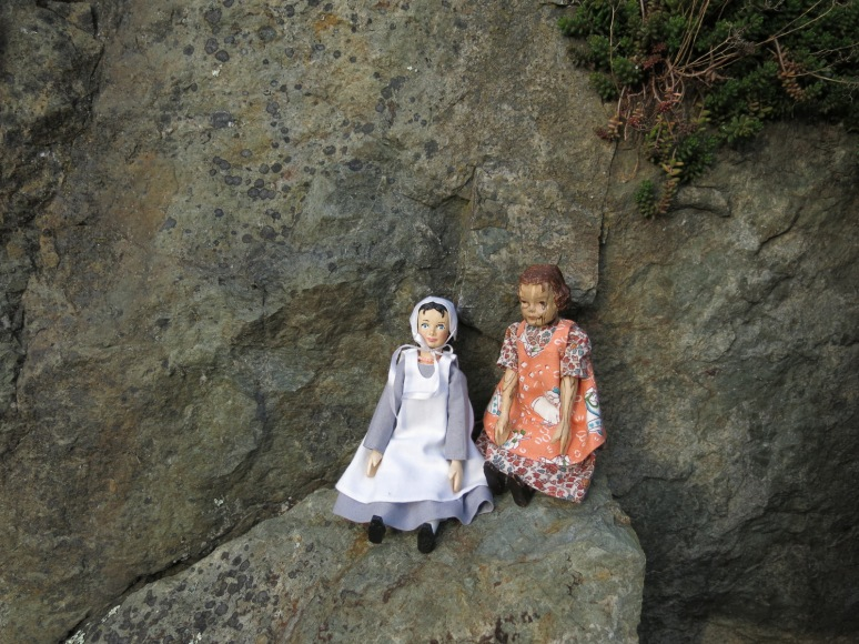 Two Little Girls on a Big Rock