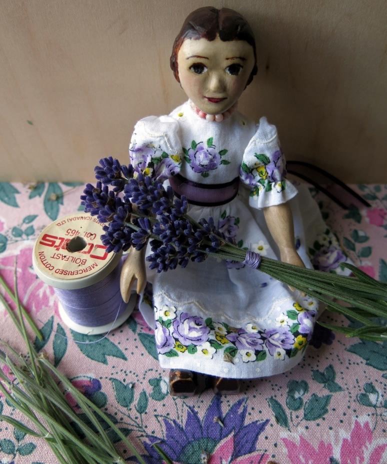Tie just under the flowers