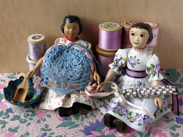 Two lovely lavender sachets