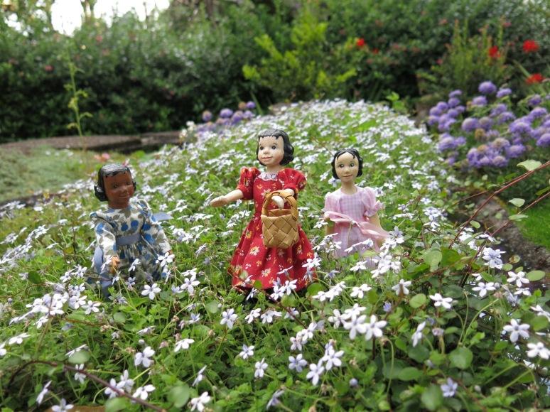 Three new girls in the garden