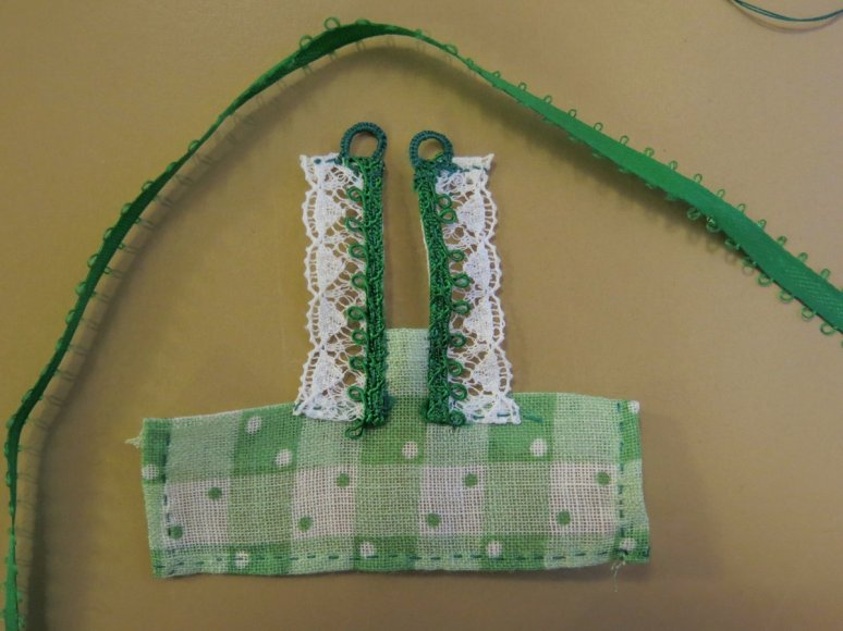 lace and ribbon shoulder straps