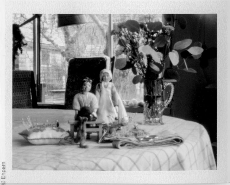 Pinhole photograph on Polaroid film