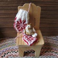 Tiny Selbu Mitten Knitting