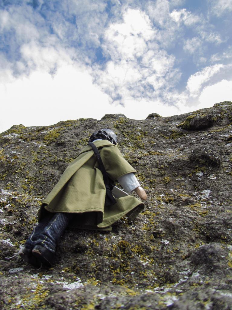 Climbing Balance Rock