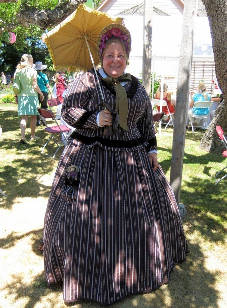 1865 Striped Dress