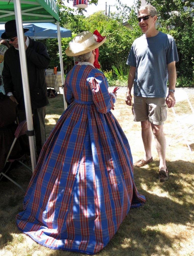 1865 Plaid Dress