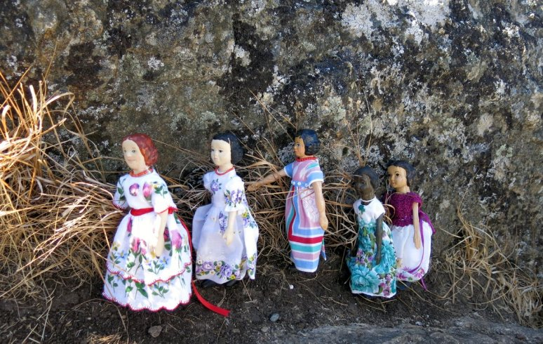 Girls in Hanky Dresses