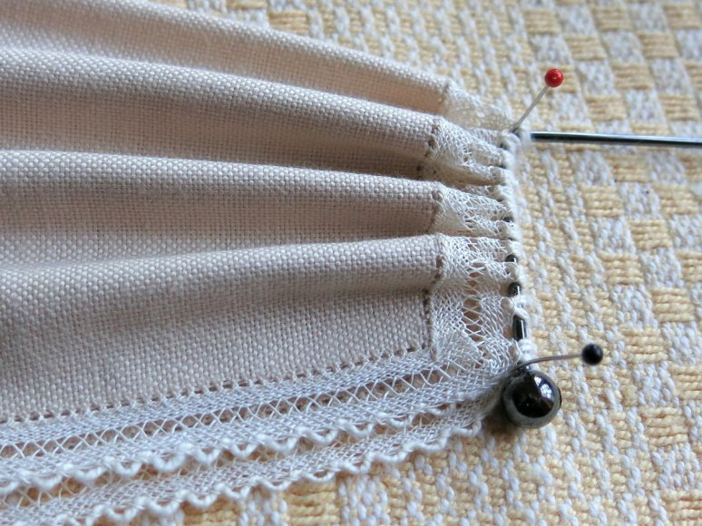 Steamed pleats