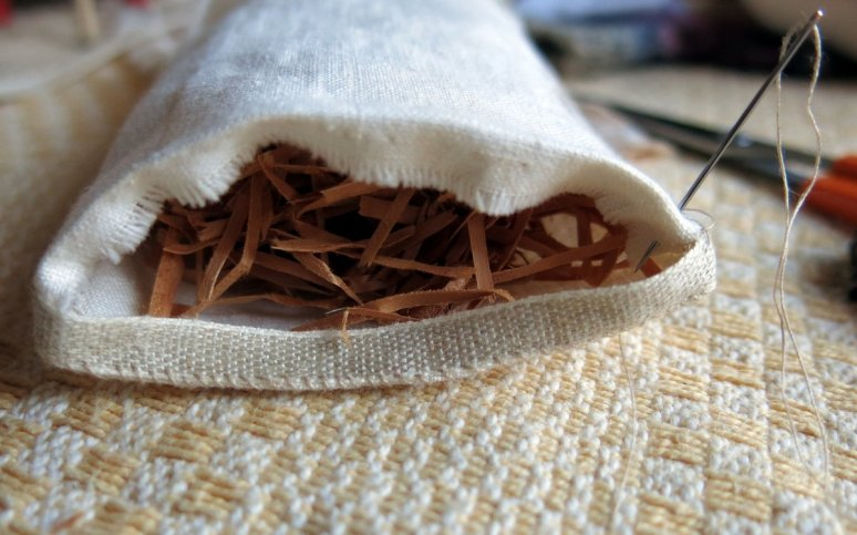 Re-used Wood Wool Stuffing