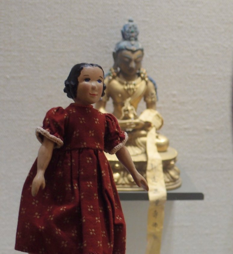 Tansy and Museum Sculpture