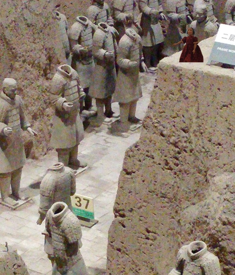 Tansy visiting the Terra Cotta Warriors