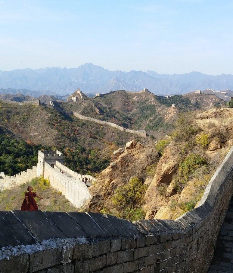 Tansy at the Great Wall