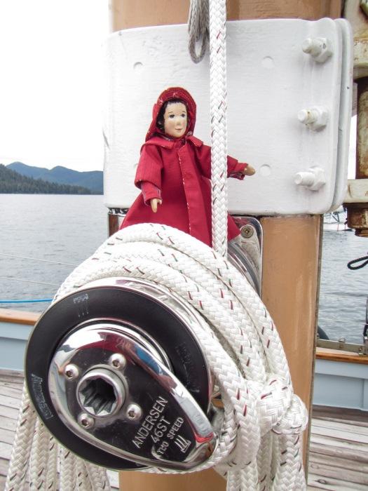 Preparing the Foresail Winch for Sail Raising