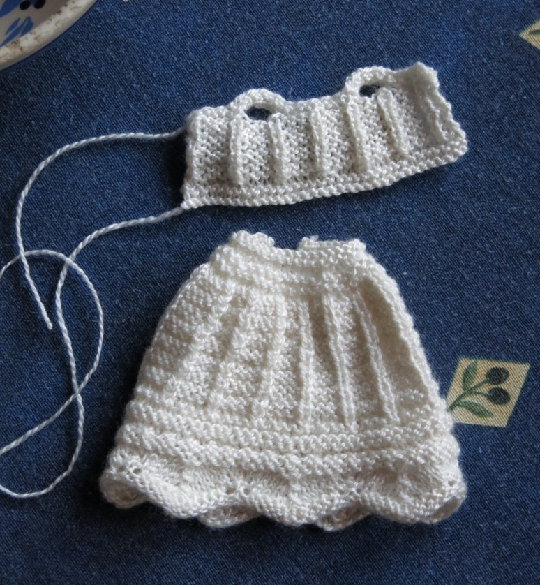 Knitted petticoat and liberty bodice