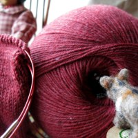 Knitting Merino Yak